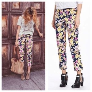 Anthropologie Cartonnier Floral Charlie Trousers